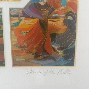 Bracha Lavee vintage signed biblical print Wall Art - 🇨🇦Vintage artist signed print Women of the Bible